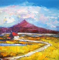 Autumnlight South Uist by John Lowrie Morrison - Original Painting on Stretched Canvas sized 12x12 inches. Available from Whitewall Galleries